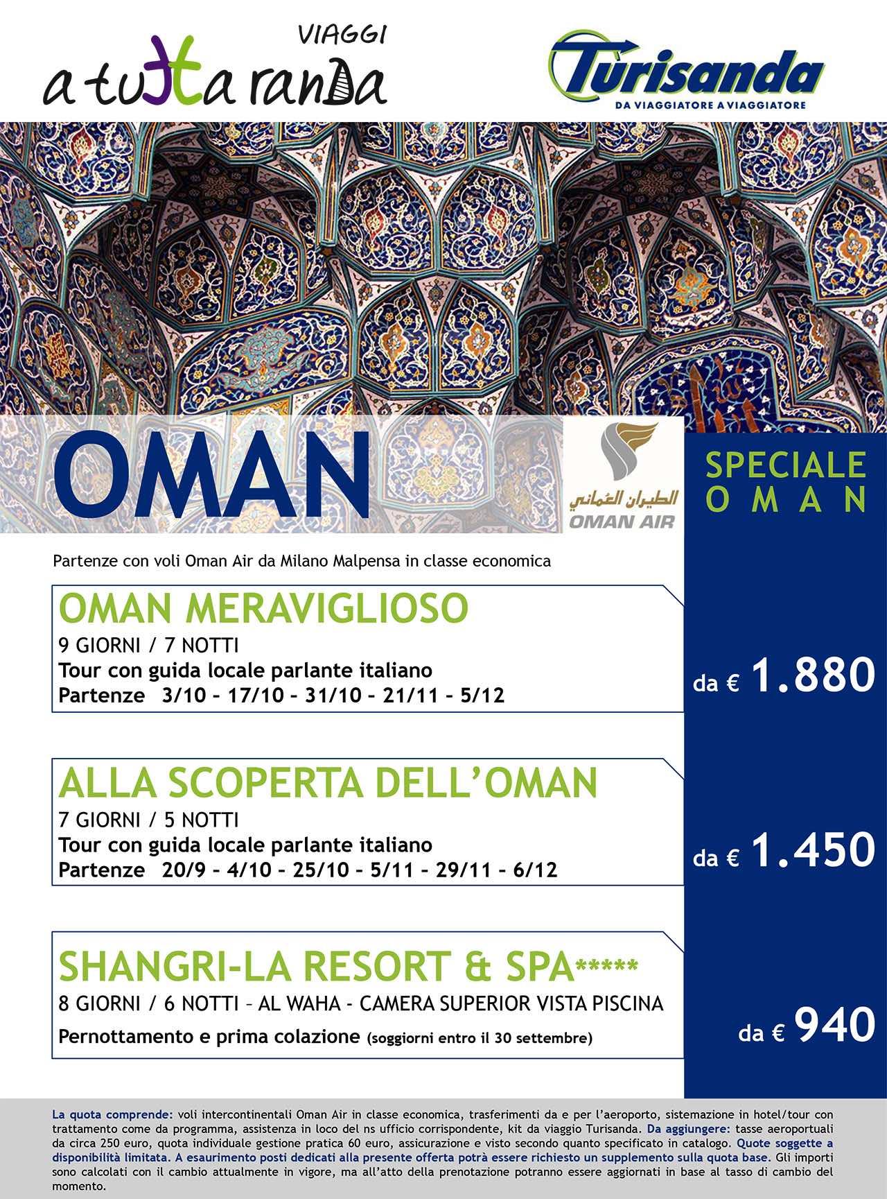 I paesaggi incantati dell'Oman