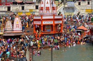 Haridwar celebrazioni dell'Ardh Kumbh Mela in India